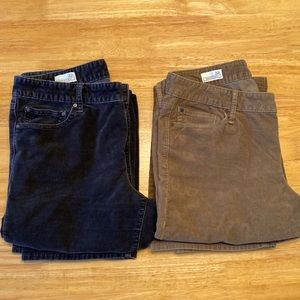 TWO GAP Perfect Boot corduroys, size 32R